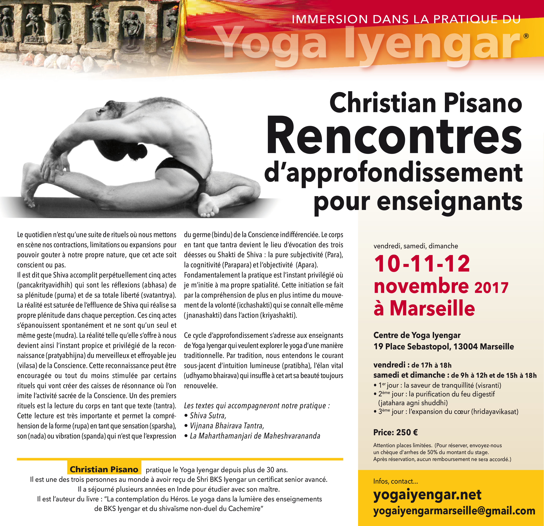 stage avec Christian Pisano les 10 , 11 et 12 Novembre 2017