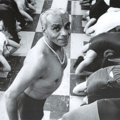 B.K.S Iyengar teaching